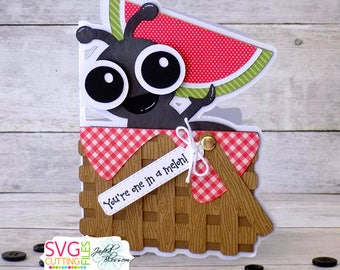 You're One in a Melon, Ant Picnic Basket Card