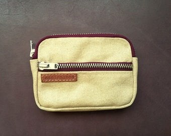 Mens beige wallet with coins pocket