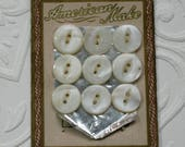 Vintage Button Card-Pearl White-Sewing Accessory