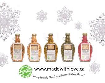 5 Pack Artisan Gourmet Spice Blends - Edible Rainbow Eco Gift Set - Food Organic - Dip Mix  - Pasta Sauce Mix - Herb, Spice & Veggie Blend