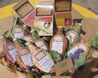 Corporate Gift Giving -  10 Signature Artisan Gift Sets - Edible Indulgence - Spice Blends Magic Meals Made with Love - Food - Herb - Spice
