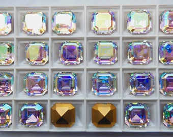 Swarovski 4671 Crystal AB 14mm Crystal Stones F - 1 Piece