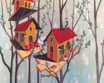Tree House Print