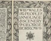 Edwardian Welsh travel book, Wild Wales, Victorian journey by George Borrow