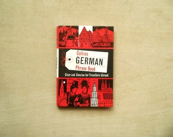 vintage 1960s German Phrase Book