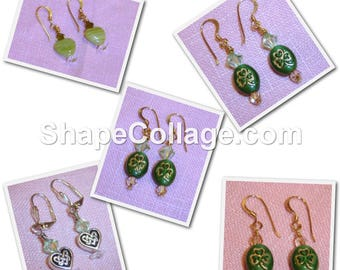 SALE! Green St. Patrick's Day Earrings - Your Choice