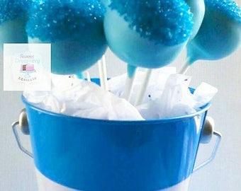 Blue Sparkle cake pops