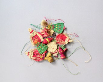 Vintage Mexican / Central American Woven Christmas Ornament  (15)