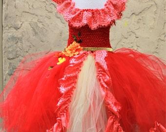 Elena of Avalor Dress - Princess Elena Dress - Elena Costume - Elena tutu dress -Elena Birthday
