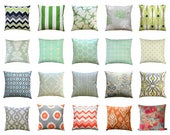 CLEARANCE Decorative Pillows, 16x16 Throw Pillow Cover, Accent Pillow, Mix and Match Pillows, Grey Pillow, Blue Pillow, Zippered Pillow SALE
