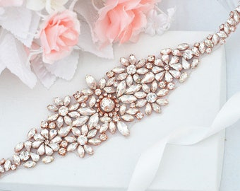 ROSE GOLD SALE Wedding Belt, Bridal Belt, Sash Belt, Crystal Rhinestones sash belt