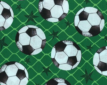 Soccer cotton fabric by Fabric quilt co