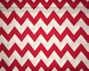 Red Chevron fabric 1/2 yard