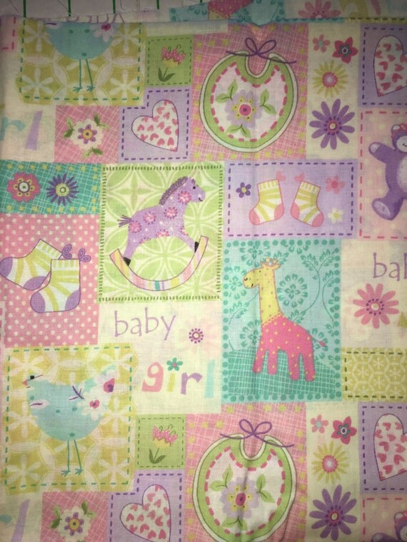Baby girl fabric by the yard from sewmomma2 on etsy studio for Baby girl fabric