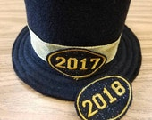 CUSTOM ORDER 2017 New Year's Hat New Year's Photo Prop 2017