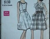Black Friday Sale 55%Off Vogue 7453 1960s 60s  Mod  Dress Dirndl Skirt MCM Vintage Sewing Pattern Size 8 bust 31.5