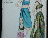 60off Sale Vogue 5861 60s 1960s Bikini Beach Cover Up Mod Mini Dress Vintage Sewing Pattern Size 10 Bust 31