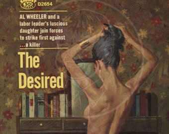 The Desired - 10x17 Giclée Canvas Print of a Vintage Pulp Paperback Cover