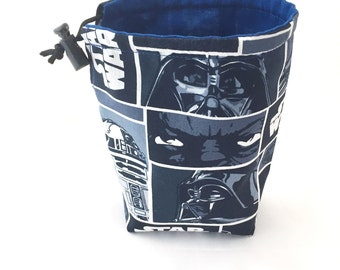 Star Wars, Dice Bag, Draw String Bag, Free Standing, Revisable, Gamer Bag, D&D Dice Bag, Makeup Bag, Small Gift Bag, Pouch, RTS