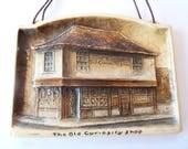 Vintage Arthur Osborne Ivorex The Old Curiosity Shop Rectangular Wall Hanging Plaque