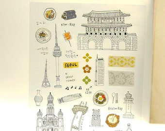 Korea - Sonia Stickers - Paper Deco Sticker - 1 Sheet
