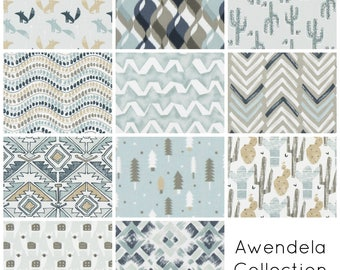 Awendela Collection. Blue Drapery Panels. Blue Curtains. Pair of Two. 63 84 90 96 108 Length. Aztec Custom Window Treatments. Geometric.