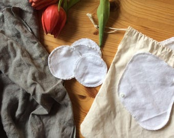 Reusable cloth sampler - makeup pads + panty liners
