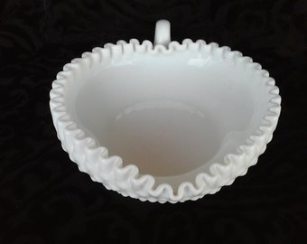 Vintage Hobnail Heart Shaped Dish by Fenton