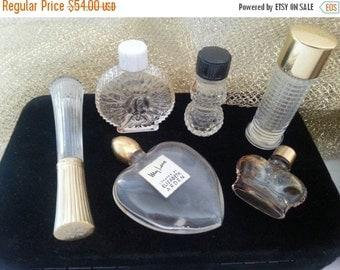Now On Sale Vintage Perfume Bottles Set of 6 * Vintage Perfume Collection * 1960s Collectible * Mad Men Mod Mid Century * Hollywood Regency