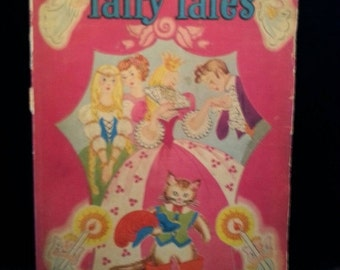 Now On Sale 1940's Vintage 1947 Fairy Tales Childrens Book Vintage Collectible Childrens Whitman Book