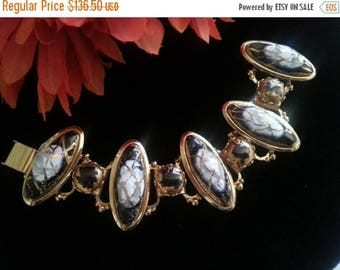 Now On Sale Rare Designer Quality Bracelet - Vintage Chunky Wide Bracelet - High End Quality Vintage Jewelry - 1950's 1960's Old Hollywood G
