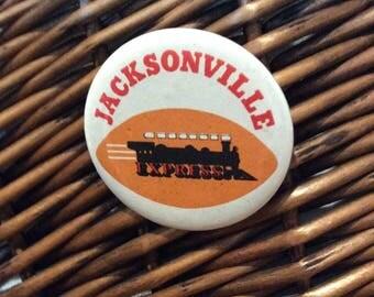 NFL Jacksonville Express football pinback button
