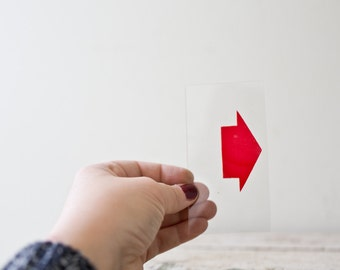 Marquee Plastic Arrow - Red Number Arrow Sign Pointer Vintage Marquee Vintage Arrow