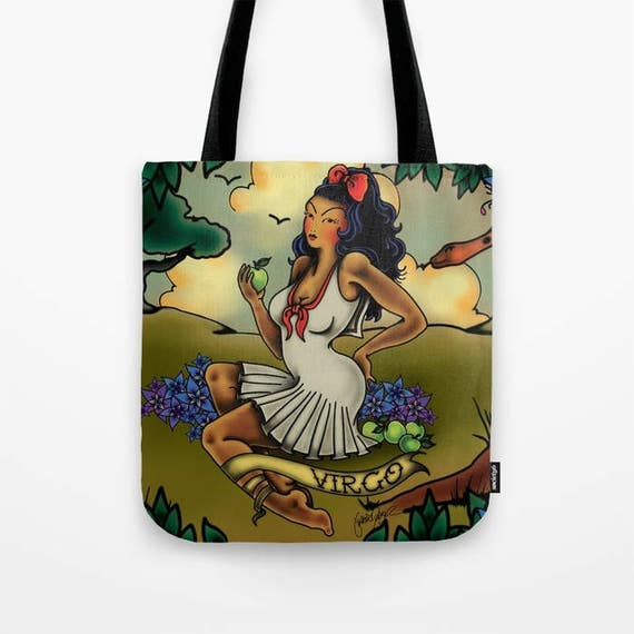 Zodiac Horoscope Tattoo Virgo Tote Bag