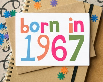 50th Birthday Card - Fiftieth Birthday Card- Born in 1967 Card - 50th card - 1967 birthday card - 50th card for him - 50th card for man