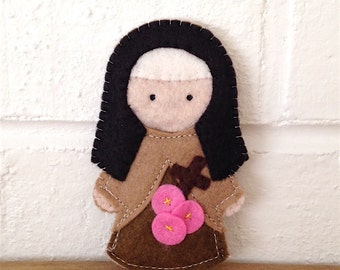 Saint Therese of Lisieux - Catholic Saint Toy - Finger Puppet- Ornament