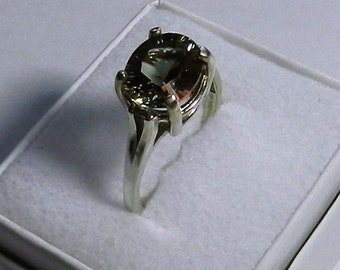 Oval Oregon Sunstone and Sterling silver Ring   # 35
