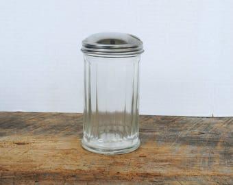 Vintage Gemco Ribbed Glass Sugar Dispenser