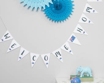 Welcome Home Bunting // Welcome Home Decoration // Welcome Decoration // Welcome Back