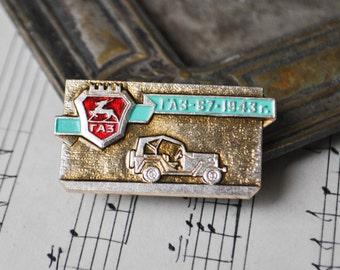 """Vintage Soviet Russian badge,pin. """"Soviet Russian car-GAZ 67"""""""