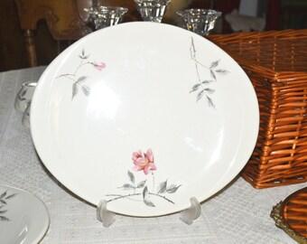Vintage Comde Rose Ballerina Platter by Universal Potteries 09