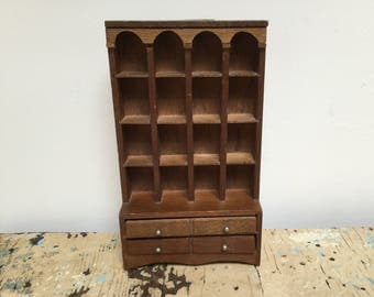Vintage wood Thimble collection display case, wallhanging