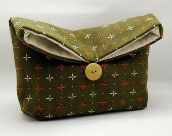 Foldover clutch, Fold over bag, clutch purse, evening clutch, wedding purse, bridesmaid gifts - Japan pattern (Ref. FC33 )