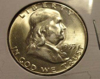 BU 1955 Franklin SILVER Half Dollar Bugs Bunny Type