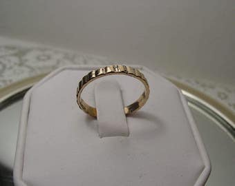 1930s - 1940s  Art Deco 12KT Gold Filled UNCAS Wedding Band Ring