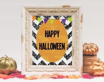 Happy Halloween Printable | Halloween Decor | 8x10 - INSTANT DOWNLOAD