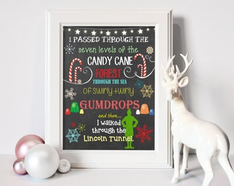 8x10 Buddy the Elf Christmas Printable | Christmas Decor - INSTANT DOWNLOAD