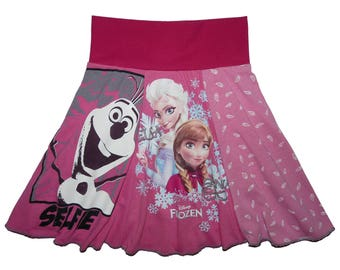 Disney Frozen Girls Size 5 6 Upcycled Hippie Skirt recycled t-shirt clothing from Twinkle