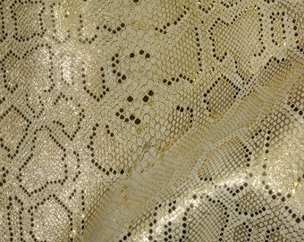 """Leather 8""""x10"""" ELEGANT Gold Metallic on Beige Cowhide 2-2.5 oz /.8-1mm PeggySueAlso™ E2869-02"""