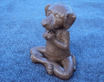 Dog Statue, Praying Dog Statue, Meditating Dog Statue, Shipping Included